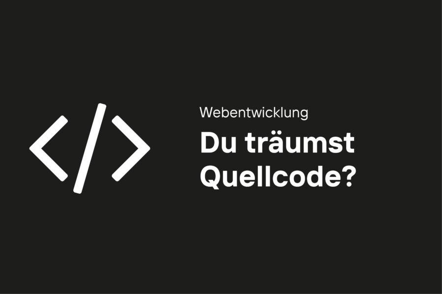 Webentwickler Stellenangebot