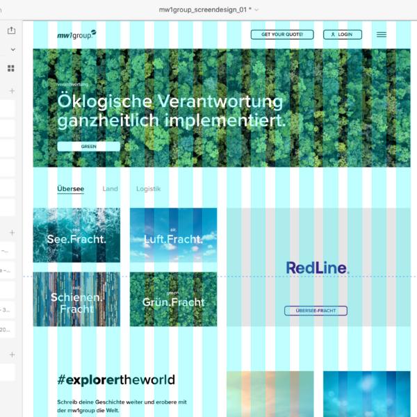 Screendesign mit Adobe XD (Raster-Darstellung)